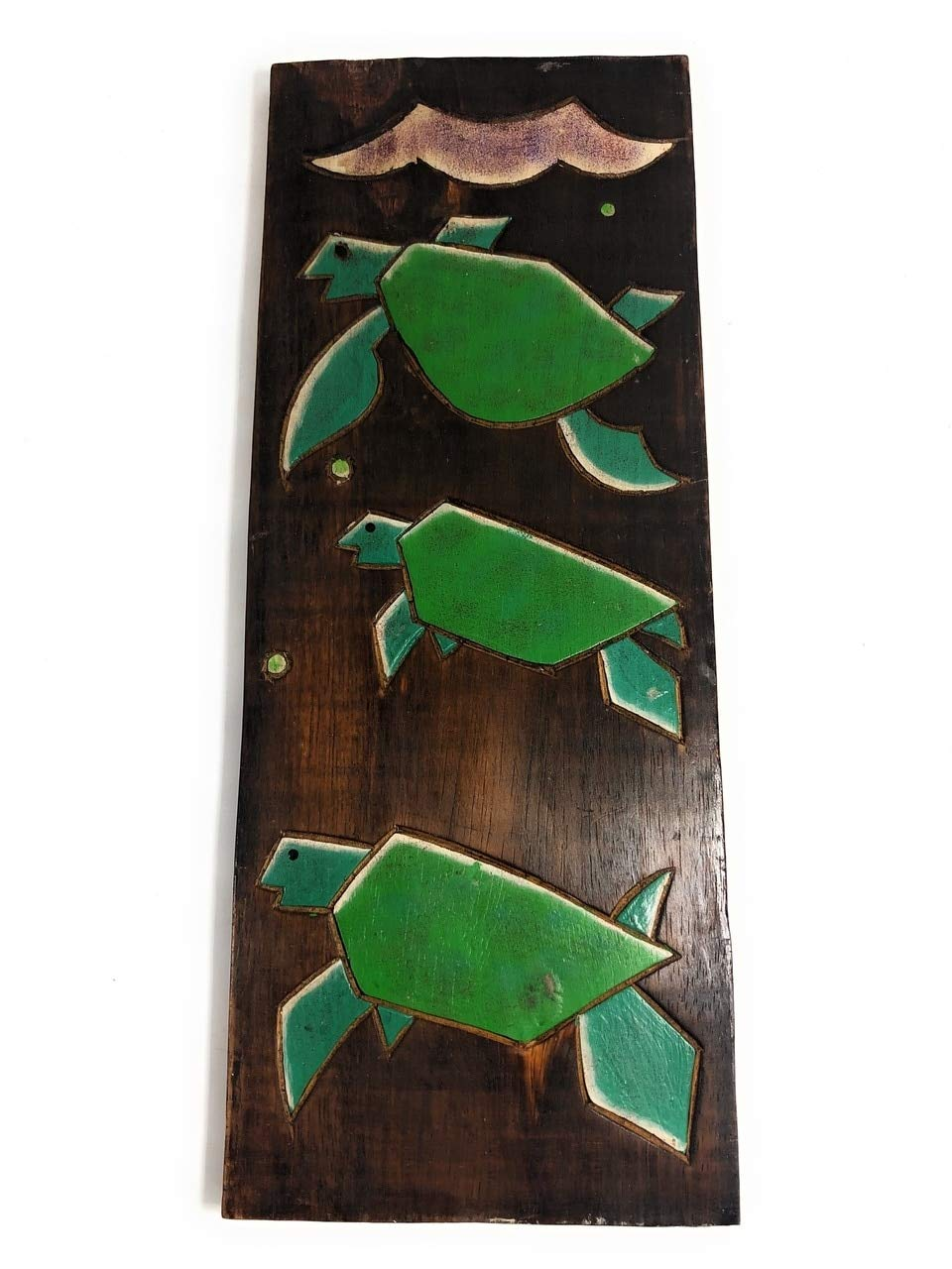 TikiMaster Hawaiian Turtles (Honu) Relief 20'' X 8'' - Wall Art Wood Panel | #dpt515850