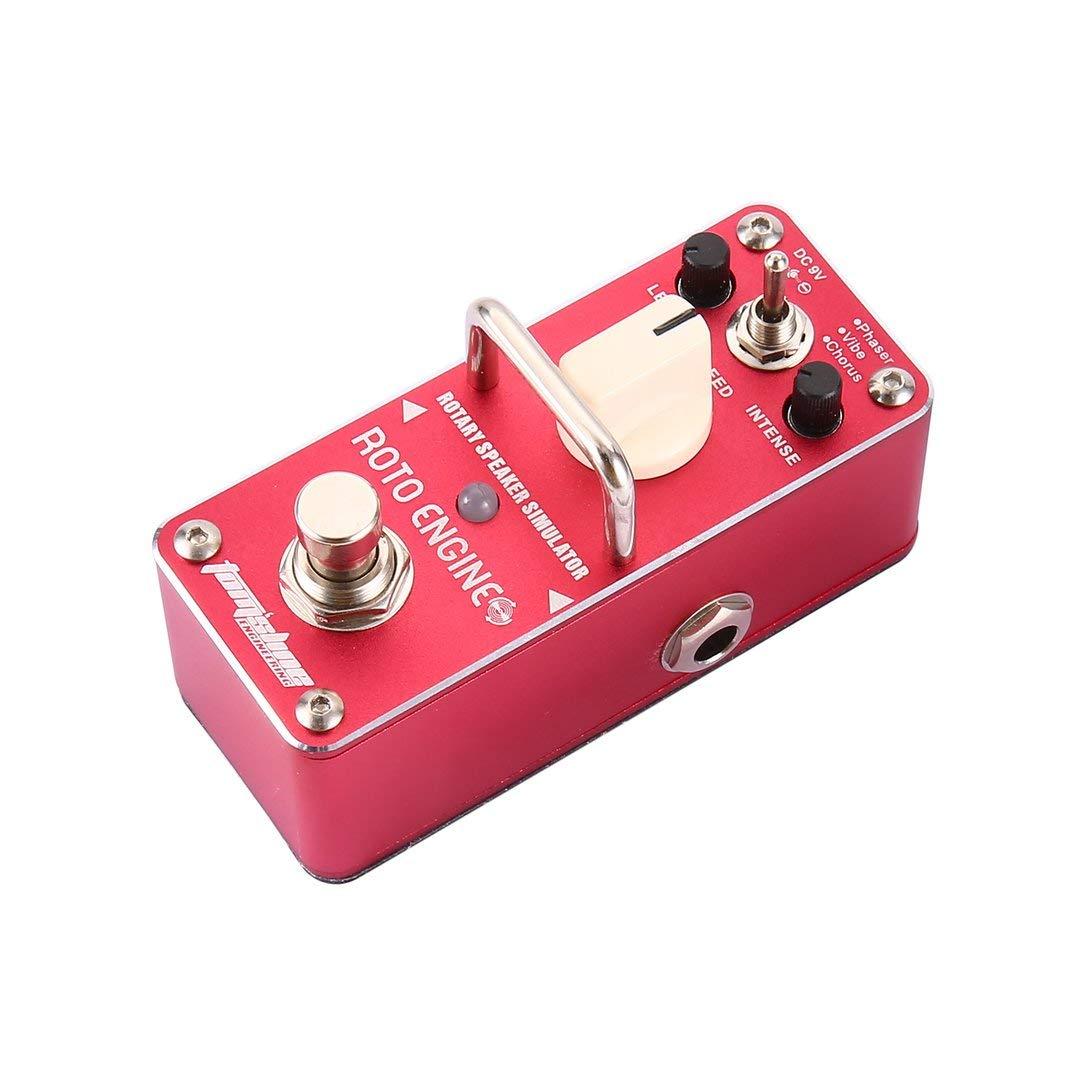 El aroma son 3-Roto motor rotativo simulador de altavoces guitarra eléctrica ecualizador mini solo efecto del pedal de piezas de guitarra verdad puente: ...