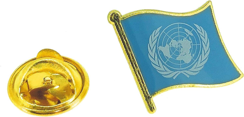 Pin de Solapa Bandera de La ONU: Amazon.es: Ropa y accesorios