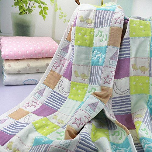 Organic Dream Baby Muslin Swaddle Blanket - Oversized 47in x 47in - Ultra Soft (Zoo)