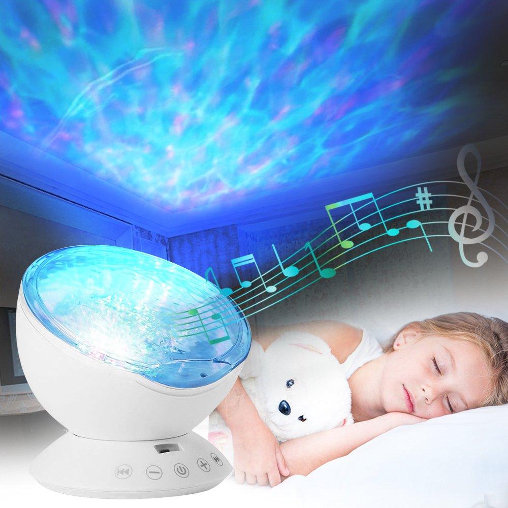 Lámpara de niños migimi Océano onda de proyección de luz Luz nocturna