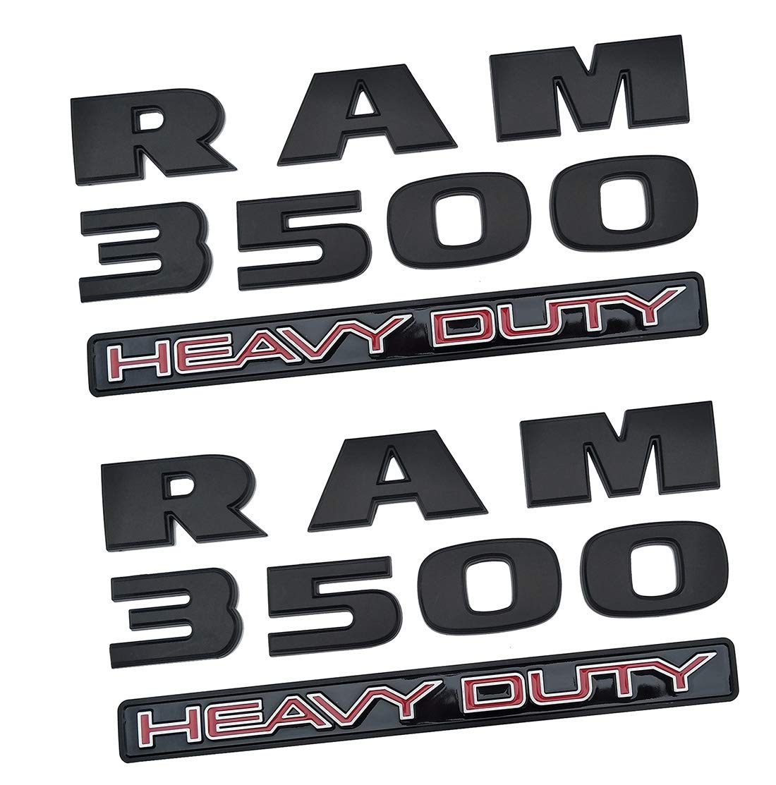 Yuauto Dodge Ram 3500 Emblems,3D Badge Decals Nameplates Letter Automotive Replacement Emblem for Dodge