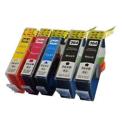 5 Cartuchos de impresora XL para HP 364 Black cian Magenta ...