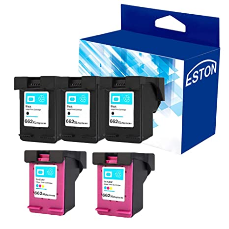 Amazon.com: Eston 5 Pack # 662 XL Negro/Color Cartucho de ...