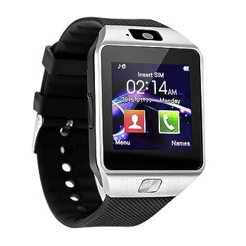 Padgene Smart Watch Q18 Montre connectée Bluetooth avec fente pour carte SIM 2.0 Compatible avec smartphones