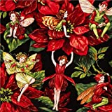 Michael Miller Christmas fabric Holiday Fairies (per 0.5m multiple)