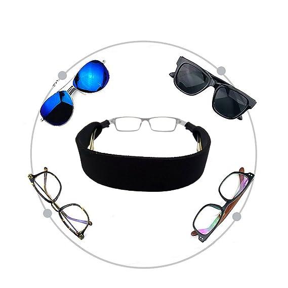 Eyewear Retainer Sunglass Straps Ajustement Sécurisé pour vos Lunettes et des Lunettes (Noir, General)