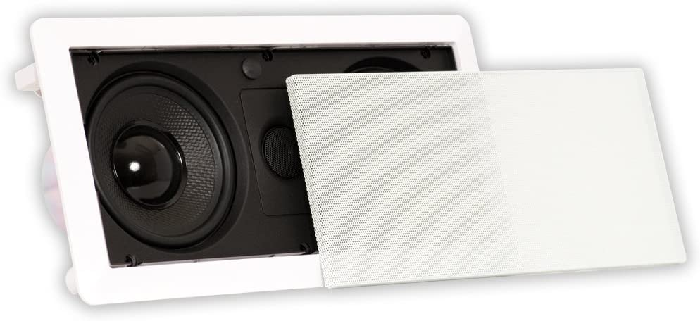 Theater Solutions LCR525 in Wall Speaker Compact Home Theater Center Channel, White