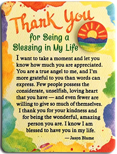 Refrigerator Print - Miniature Easel Print with Magnet: Thank You for Being a Blessing in My Life, 3.6
