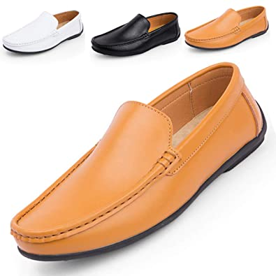 33f6dca64492 Hommes Mode Mocassins Business Chaussures Véritable Botte en Cuir Respirant  Courir Marche Bureau Casual Tous Les