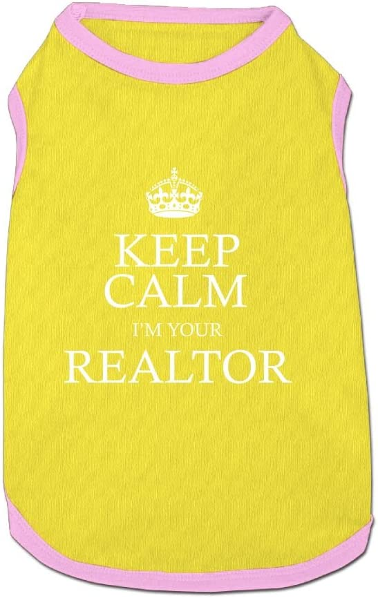Dog T-Shirt Clothes Keep Calm Im Your Realtor Doggy Puppy Tank Top Pet Cat Coats Outfit Jumpsuit Hoodie