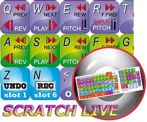 Serato Scratch Live Keyboard Sticker For Desktop, Laptop And Notebook
