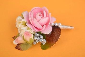 Handmade Ansteckblume Brautigam Blumen Anstecker Hochzeit Schmuck