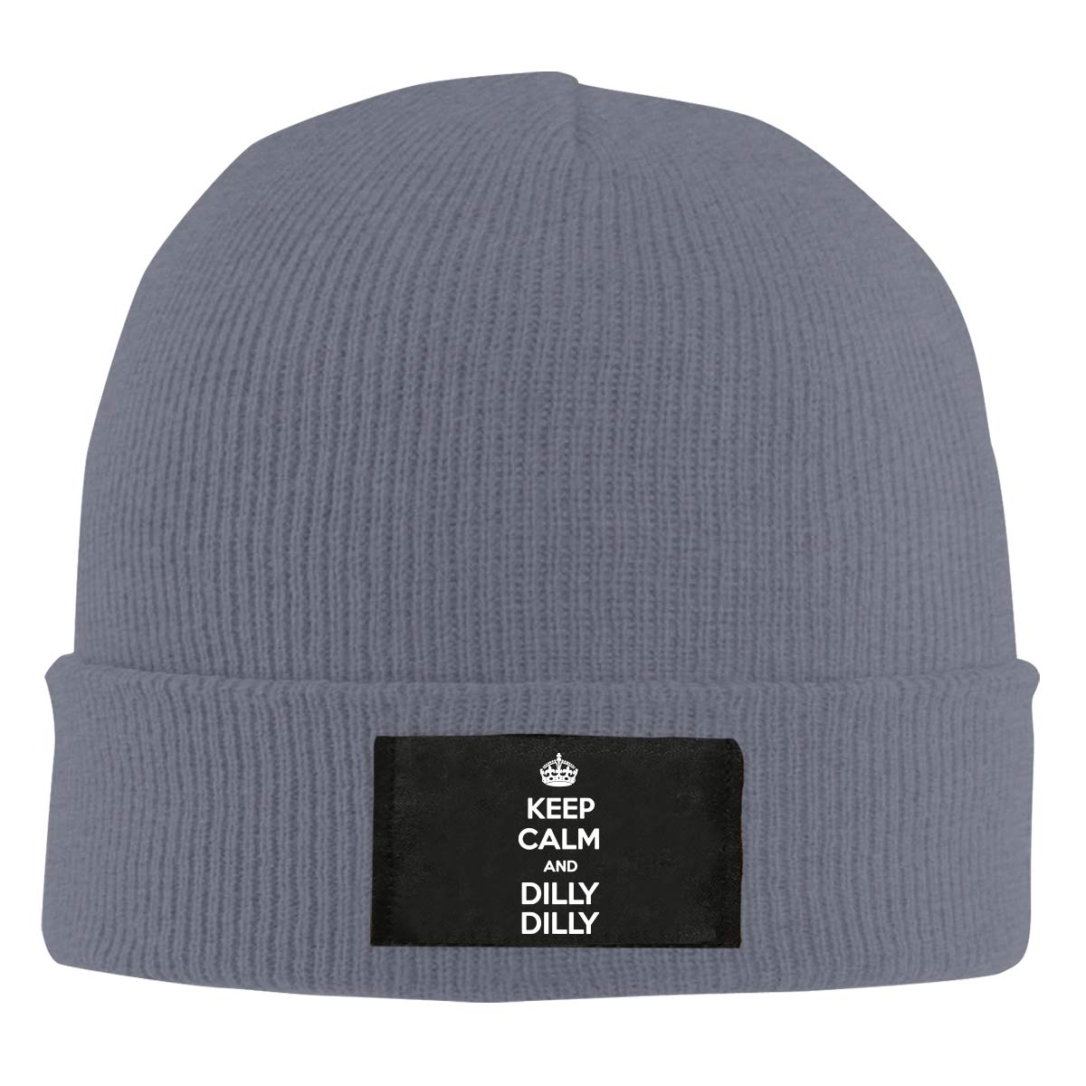 Keep Calm and Dilly Dilly Men /& Womens Knitted Hat Soft Fleece Beanie Hat