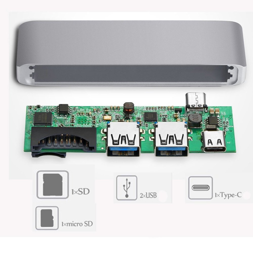Type-C USB C Hub MacBook,Thunderbolt 3 Multi Port: Amazon.de ...