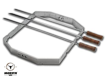 PizzaRing Moesta-BBQ FeuerWalze Fremdhersteller f/ür 11,8mm Rotisserie Buchenholzrolle f/ür Rotisserie