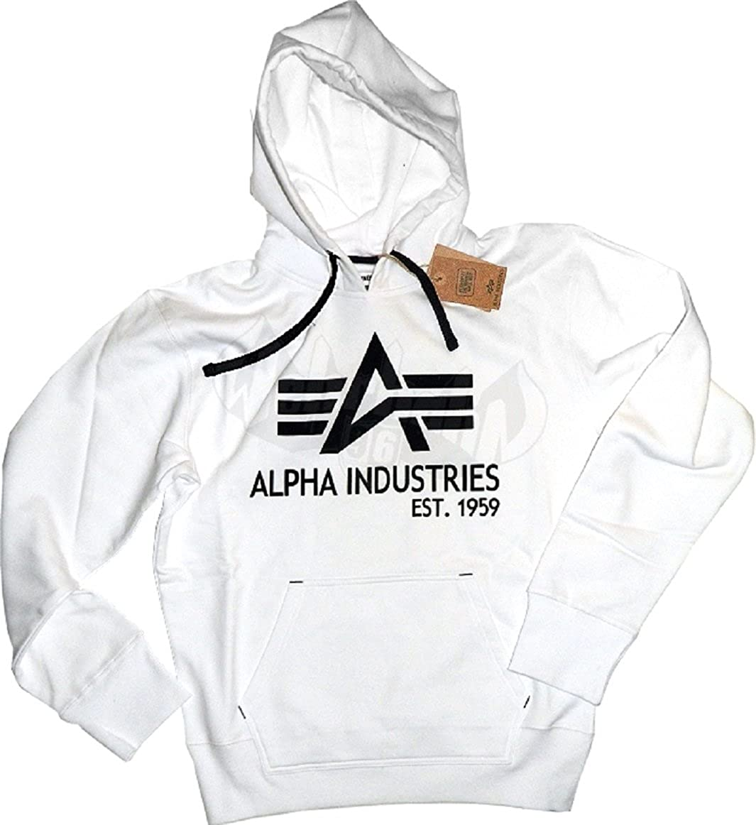Alpha Industries Big A Classic Hoody (XXL, Weiß)