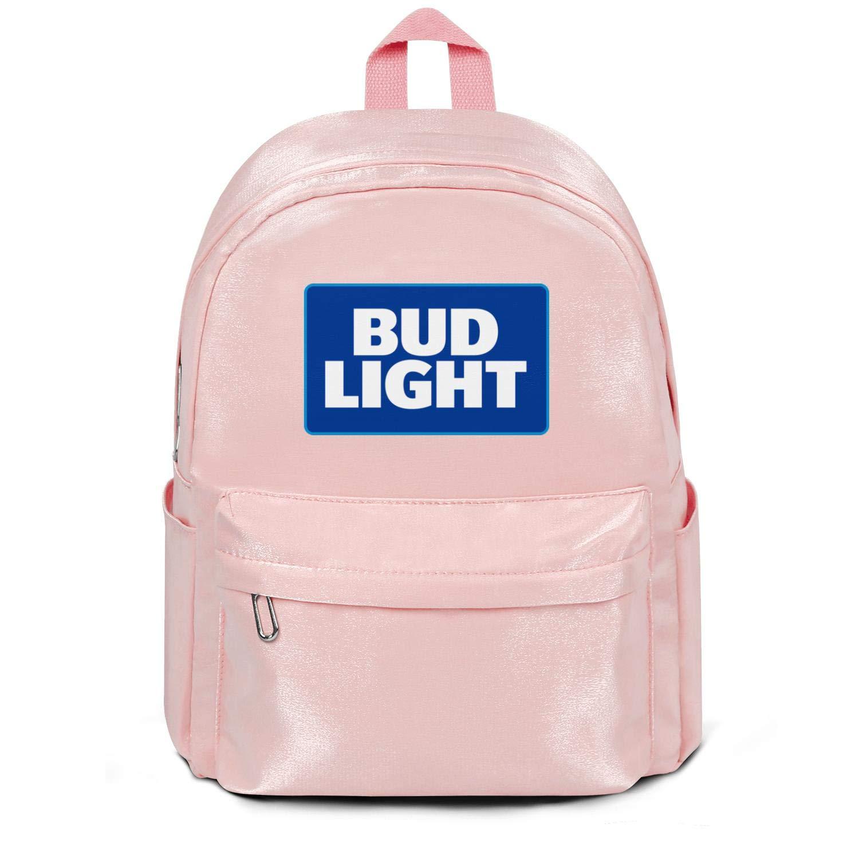 Sansalsk2 Unisex Hiking School College Backpack Bud-Light-Beer- Cute Laptop Bag Roomy Nylon Gear Bag