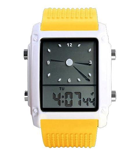 ufengke® retro de línea rectángulo clásico coreano reloj electrónico de pulsera para hombres, calidad banda de silicona reloj deportivo de negocio muy bien, ...