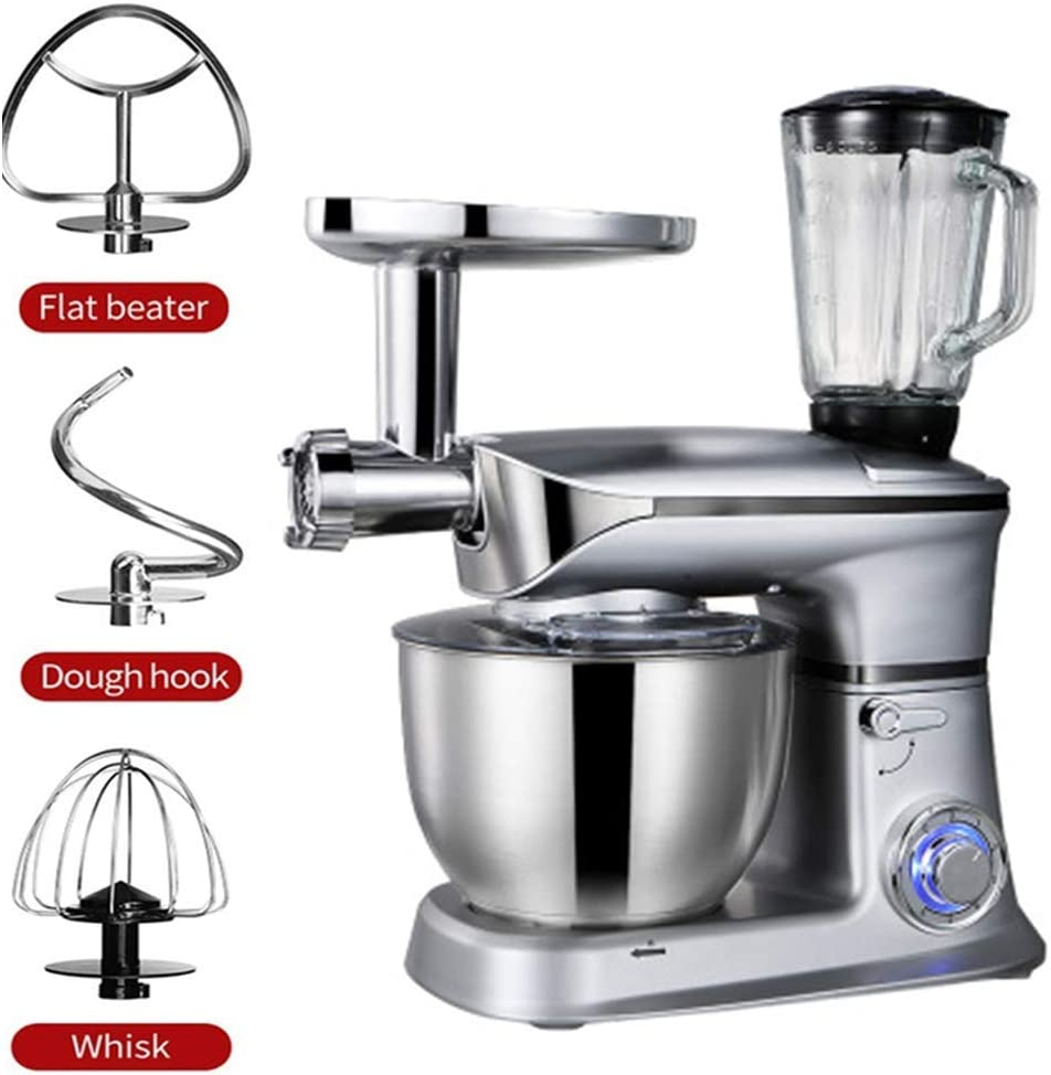 LEILEI Electric Stand Mixer Food Processor,6.5 Litre Mixing Bowl with Splatter Guard & Dough Hooks,1300W,for Cooking Baking