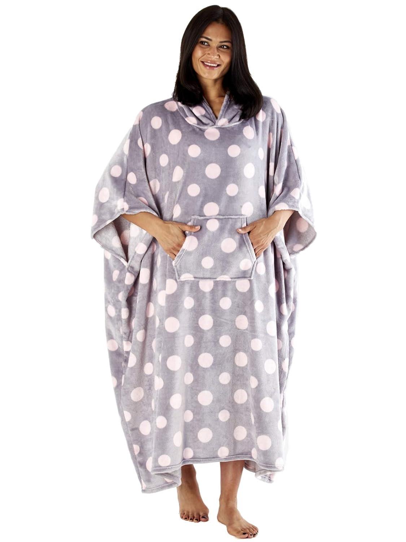 Gris Rose Rose//Blanc ou Gris//Blanc Projecteur Design Taille Unique pour Tous Inspirations Femmes Doux Laine /À Capuche Matelas Poncho