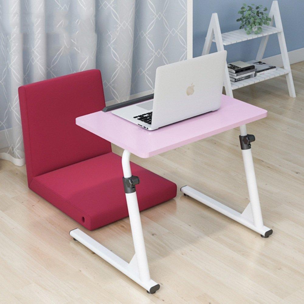 YNN ベッドサイドラップトップテーブル折り畳み式レイジーテーブルベッドソファサイドテーブル調節式スタディデスク (色 : ピンク ぴんく) B07FG1WNXCピンク ぴんく