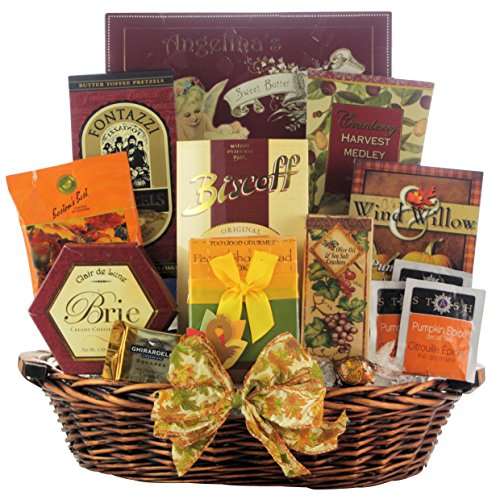 GreatArrivals Plentiful Gourmet Wishes Thanksgiving Gift Basket, 6 Pound (Cheeseball Olive Tuscan)