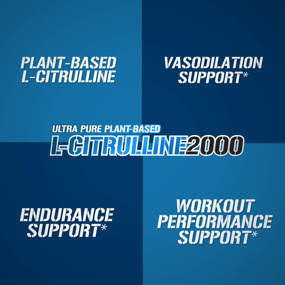 Evlution Nutrition L-Citrulline2000, Ultra-Pure Plant-Based Citrulline Powder Supplement, Enhance Muscle Strength and Vascularity, Powerful NO Booster, 100 Vegetarian Servings