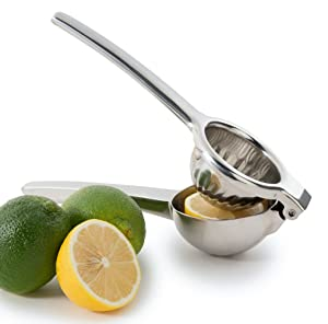 Chef's Star Jumbo Citrus Juicer Lemon Squeezer - Stainless Steel - Lime Squeezer - Orange Squeezer - Dishwasher Safe