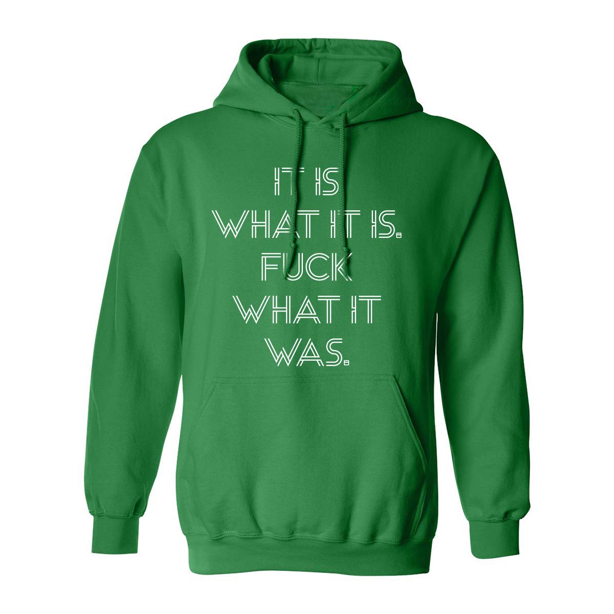 ZeroGravitee It is What it is.Fuck What it was Adult Hooded Sweatshirt PA-3987-HD