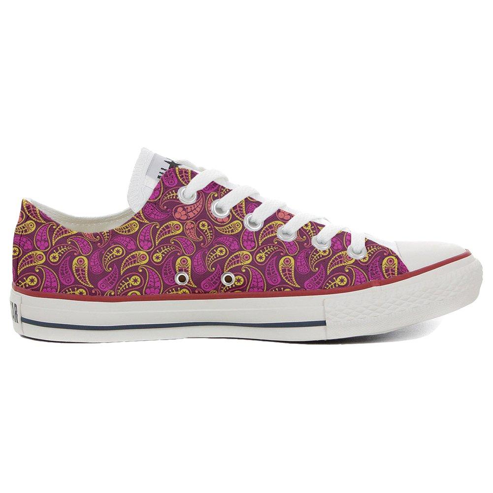 Converse Custom Slim personalisierte Schuhe (Handwerk Produkt) Decor Paisley  42 EU