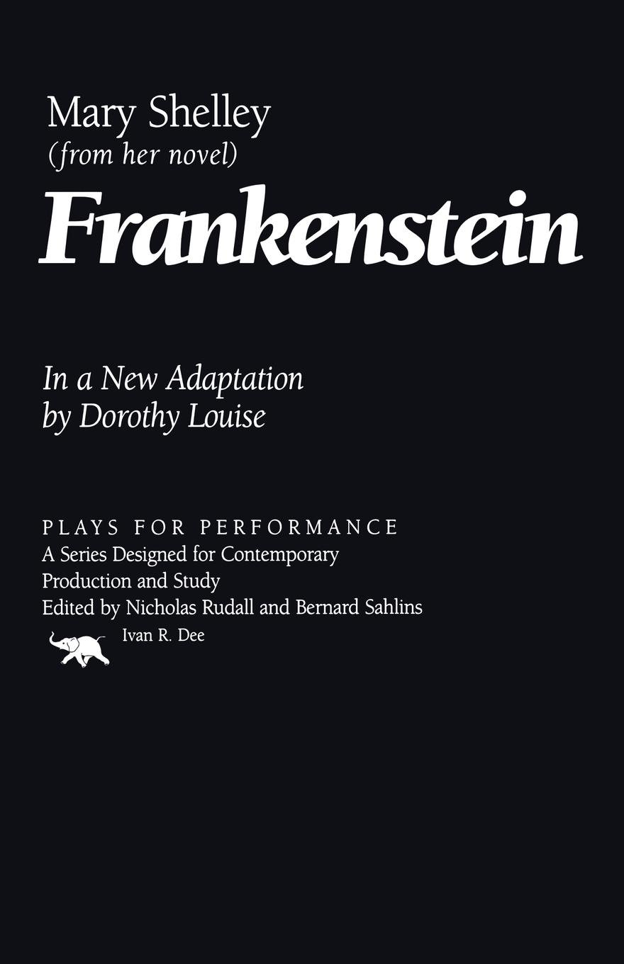 Frankenstein Plays For Performance Series Mary Shelley