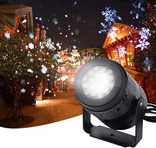 LED Nevadas Proyector de copo de nieve Luz Luz de Navidad de hadas ...