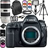 Canon EOS 5D Mark IV DSLR Camera with EF 70-200mm f/2.8L IS II USM Lens 27PC Accessory Bundle - Includes 64GB Memory Card + MORE