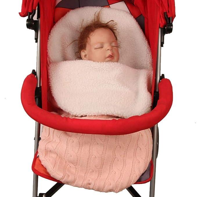 9cdd01b6fc Baby Wrap Swaddle Manta Saco de dormir Niño Saco de dormir Cochecito de bebé  Recién nacido Saco de dormir Niño de lana de punto Gancho con capucha Saco  de ...