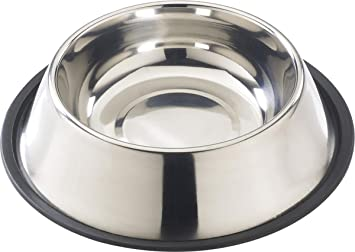 ethical 32ounce notip stainless dish - Dog Bowls