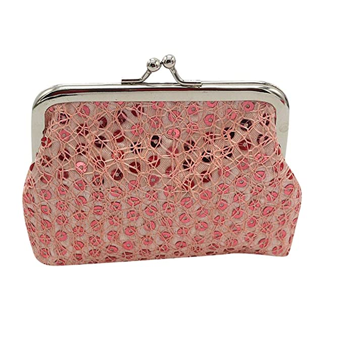 Clearance! Wobuoke Womens Small Sequin Wallet Card Holder Coin Purse Clutch Handbag  Bag at Amazon Women s Clothing store  0649bb998b07c