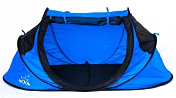 Baby Nook Travel Bed and Beach Tent (blue) Provides Shade and Shelter  sc 1 st  Amazon.com & Amazon.com : Baby Nook Travel Bed and Beach Tent (blue) Provides ...