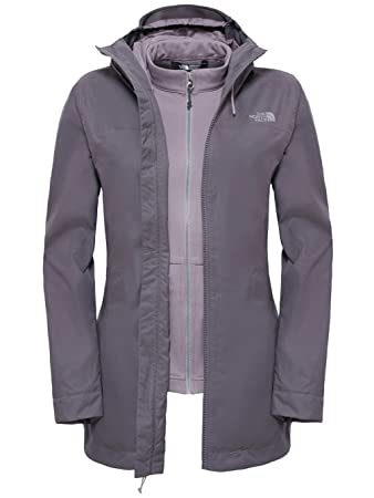 North Face Women's Morton Triclimate Waterproof Jacket, Grey/Rabbit Grey,  X-Large