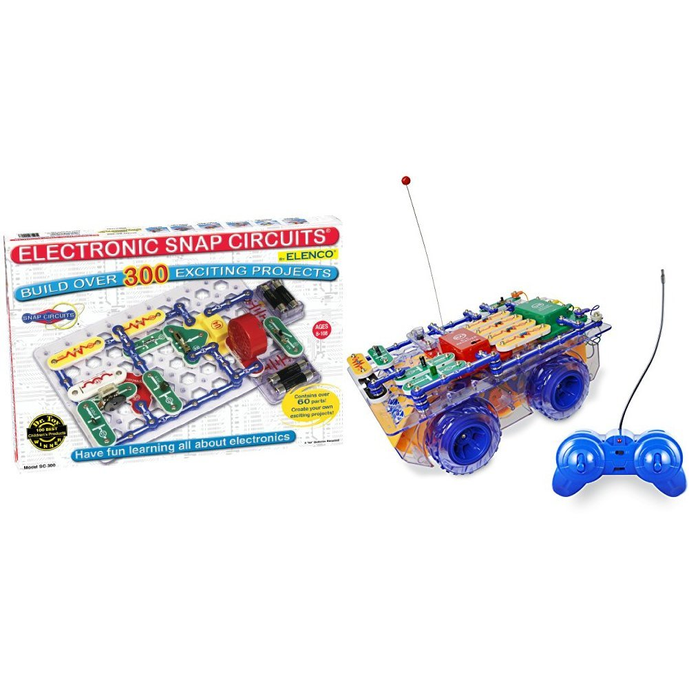amazoncom snap circuits sc 300 electronics discovery kit with snap