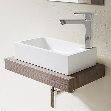 Lavabo Vasque à Poser évier Fonte Minérale Colossum 101