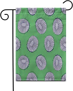 """Awowee 12""""x18"""" Garden Flag 50S Mid Century Modern Circle Drawings for All Outdoor Home Decor Double Sided Yard Flags Banner for Patio Lawn"""