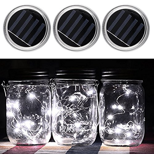 Frosted Mason Jar Solar Lights