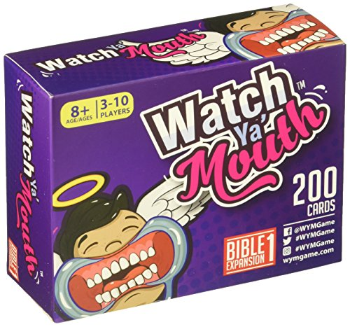 Watch Ya' Mouth Bible Expansion #1 Card Game Pack, for All Mouth Guard Games