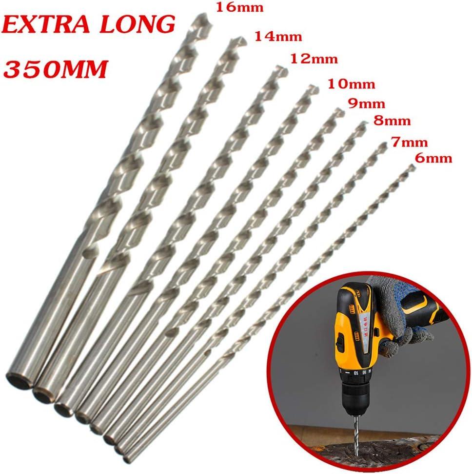 Takefuns Punta elicoidale per trapano extra lunga diametro 6-16 mm HSS 350 mm