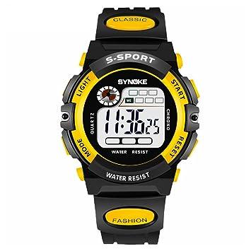 GeKLok Reloj Deportivo Digital para niños, Resistente al Agua, electrónico, analógico, con