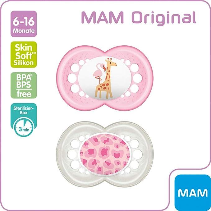 Mam Original Chupete 6-16 Skin Soft silicona / 6 - 16 /Juego ...