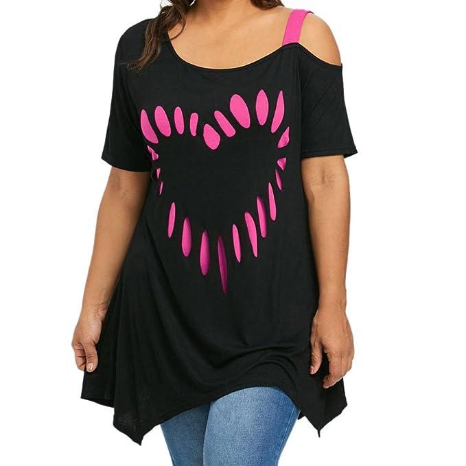 FAMILIZO Camisetas Mujer Verano Blusa Mujer Elegante Camisetas Mujer Manga Corta Algodón Camiseta Mujer Camisetas Mujer Fiesta Camisetas Sin Hombros Mujer ...