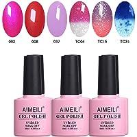 AIMEILI Soak Off UV LED Gel Nail Polish Multicolour/Mix Colour/Combo Colour Set Of 6pcs X 10ml - Kit Set 23