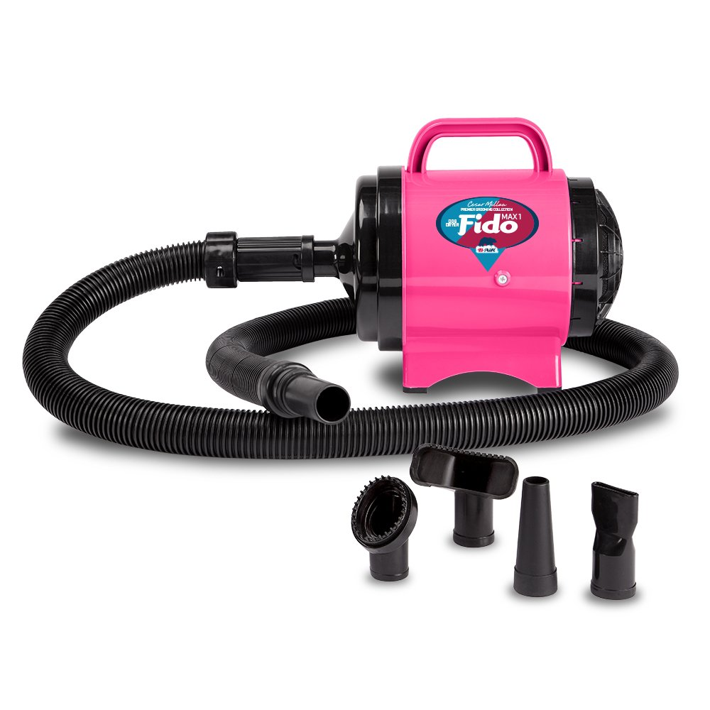 B-Air Fido Max 1 Dog Dryer - Cesar Millan Premier Grooming Collection, Hot Pink
